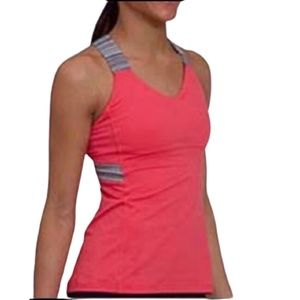 Lululemon Push Your Limits Tank Coral and Grey 4